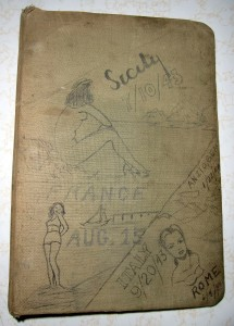 WWII Diary of Charles 'Chick' Bruns - Front cover