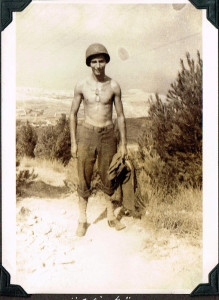 Chick Bruns in Sicily, 1943