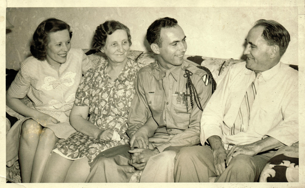 Geneva Barber (sister) ,Johanna Bruns (mother),  Chick Bruns, Francis Bruns (father)